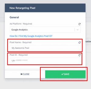 RetargetKit - Google Analytics ID