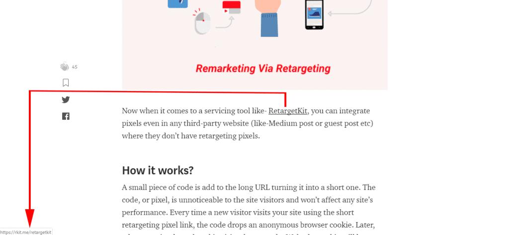 Retarget medium readers